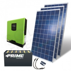 KIT FOTOVOLTAICO OFF-GRID 1 KW 24V CON BATTERIE OPZS 2160 AH
