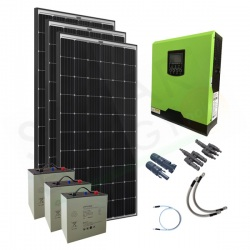KIT FOTOVOLTAICO OFF-GRID 900 W 24V CON BATTERIE LITIO 3 KWH