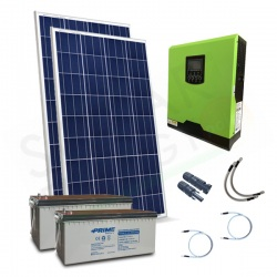 KIT FOTOVOLTAICO OFF-GRID 400 W 12V CON BATTERIE AGM 400 AH