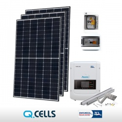 KIT FOTOVOLTAICO 3 kWp Q-CELLS - ZCS (COMPLETO)