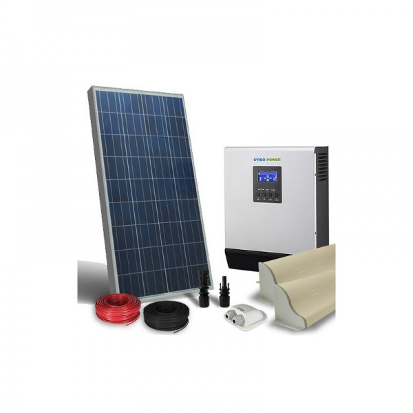 Kit Pannello Solare Inverter : Solar energy point kit fotovoltaico camper w inverter