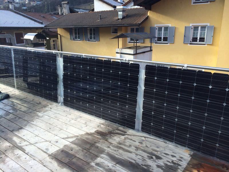Pannello Solare Per Balcone : Solar energy point seven for family e f w
