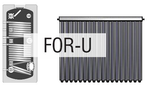 Cmg Solari For-U - Kit a circolazione forzata collettore sottovuoto